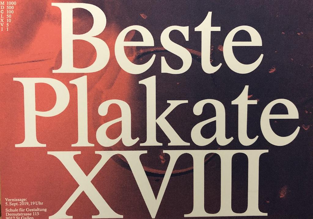 Ausstellung «Beste Plakate XVIII»
